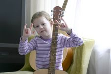 Free Child Musician-Rock On Royalty Free Stock Images - 5400149