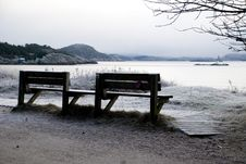 Free Winter Bench Royalty Free Stock Photography - 5400777