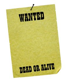Free Wanted - Dead Or Alive! Stock Photography - 5400782