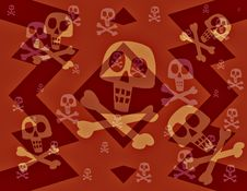 Free Dancing Skulls And Bones Royalty Free Stock Images - 5400919