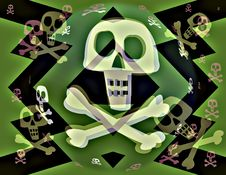 Free Electric Jolly Roger Stock Image - 5400931