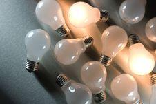 Free Series Of Lightbulbs Stock Image - 5401311