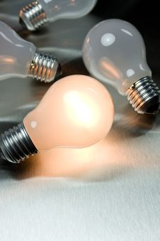 Free Series Of Lightbulbs Stock Photography - 5401352