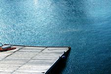Free Wooden Pier And Blue Waters Stock Photography - 5402262