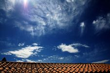 Free Roof And Sky Royalty Free Stock Image - 5402266