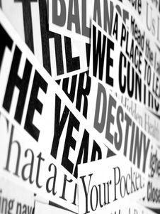 Free New Paper Headlines Stock Image - 5402531