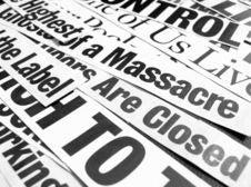 New Paper Headlines Stock Image