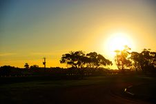 Free Rural Eucalypt Sunset Stock Images - 5402964