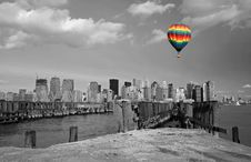 Free Lower Manhattan Skyline Royalty Free Stock Photography - 5403057