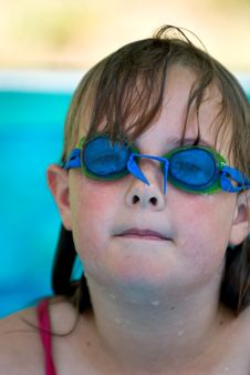 Free Young Girl With Swimming Goggles Royalty Free Stock Photos - 5403278