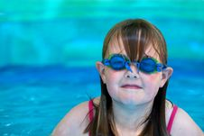 Young Girl With Swimming Goggles Royalty Free Stock Photography