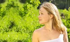 Free Portrait Over Greenery Royalty Free Stock Photography - 5404327
