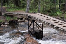 Free Bridge In The Forest Royalty Free Stock Photos - 5404328