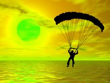 Free Parachutist Stock Photo - 5404350
