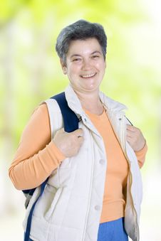 Free Senior Woman On Walk Royalty Free Stock Photography - 5404407