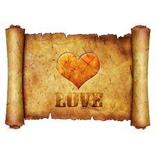 Love Heart Scroll Royalty Free Stock Photos