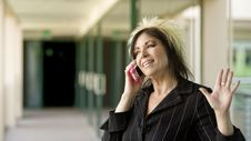 Free Modern Businesswoman On A Cell Phone Stock Images - 5404734