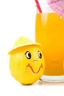 Free Cheerful Little Men From A Fresh Lemon Stock Images - 5405784