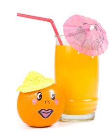 Free Cheerful Little Men From A Fresh Orange Stock Photo - 5405800