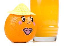 Free Cheerful Little Men From A Fresh Orange Stock Photos - 5405813