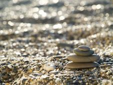 Free Stones On The Beach Royalty Free Stock Photos - 5406218