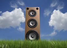 Free Speaker In Grass Stock Image - 5406671
