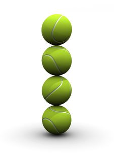 Free Tennis Pile Royalty Free Stock Photography - 5407217