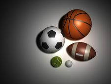 Sports Balls Royalty Free Stock Image