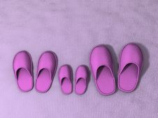 Free Family Slippers Royalty Free Stock Photos - 5407298