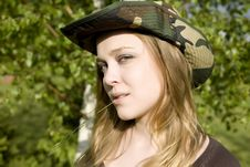 Free The Woman In A Hat Royalty Free Stock Photos - 5407458
