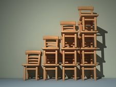 Free Pile Of Chairs Stock Images - 5407544