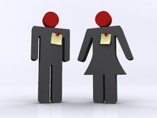 Man And Women Royalty Free Stock Photo