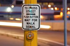 Free Crosswalk Button At Night Stock Photo - 5408520