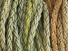 Coiled Rope Detail Royalty Free Stock Images