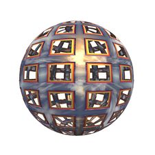 Free Spherical 3D Button Stock Photos - 5409203