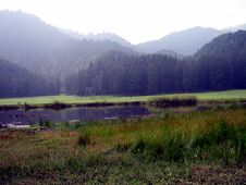 Free Mountains With A Pond Stock Images - 5409554