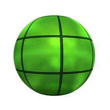 Free Spherical 3D Button Royalty Free Stock Images - 5409609