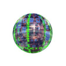 Free Spherical 3D Button Stock Image - 5409621