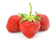Free Fruits Of Red Strawberry Isolated Royalty Free Stock Image - 5409626
