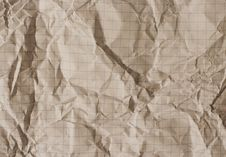 Free Old Crumpled Squared Paper Stock Photo - 5409860
