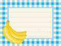 Free Banana On Chequered Background Royalty Free Stock Photos - 5417108