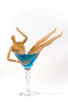 Free Doll In A Martini Glass Royalty Free Stock Image - 5410086