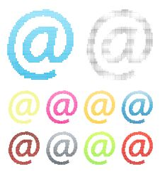 Free Mail At Symbol Pixel Graphic Design Element Stock Images - 5410314