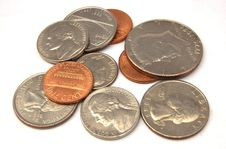 Free Coins Royalty Free Stock Photography - 5410457