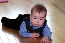 Dressed Up Baby Stock Photo