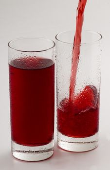 Free Cold Red Drink Stock Image - 5410651