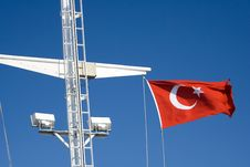 Free Flag-Turkey-Sea-Ship Stock Photography - 5410732