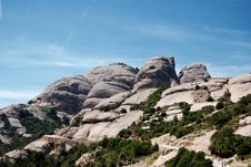 Free Landscape Of Montserrat Mountain, Catalonia Royalty Free Stock Photography - 5411187