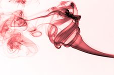 Free Red Wavy Smoke Stock Images - 5411354