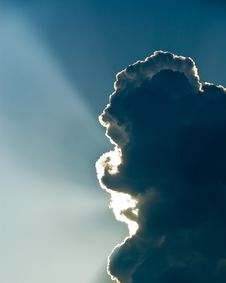 Free Sun Behind The Cumulus Clouds Royalty Free Stock Photos - 5411458